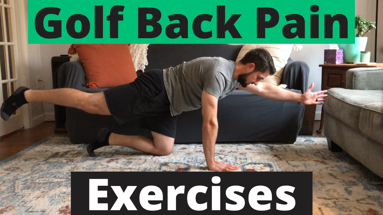 Man Performing Golf Back Pain Exercise