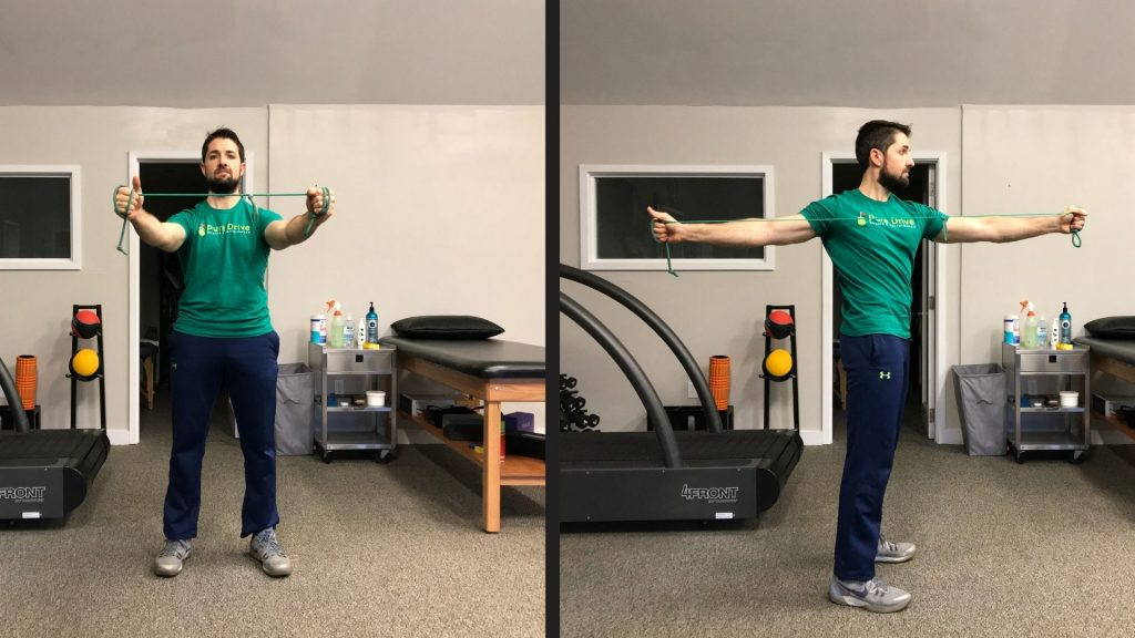 Resisted Mid-Back Drill For Low Back Pain In Golfers